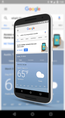 Add Google Now Weather to Your Home Screen