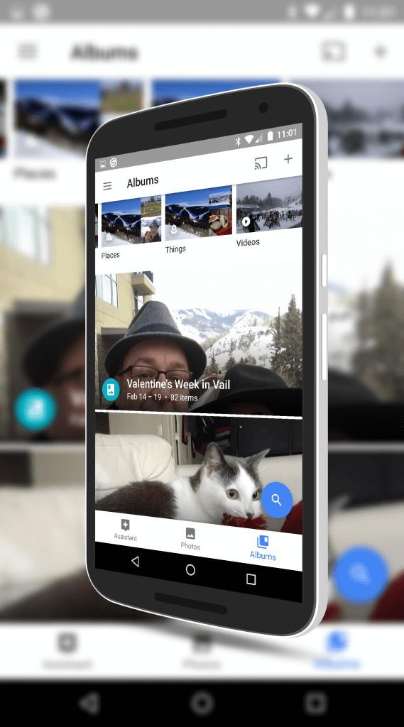 New Albums View in Google Photos