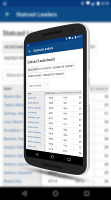 Statcast Information in MLB At Bat