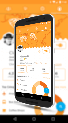 Stats in Swarm for Android