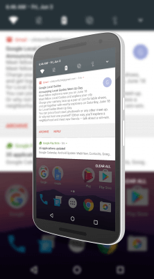 Notification Shade in Android N