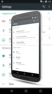 Settings Suggestions in Android N