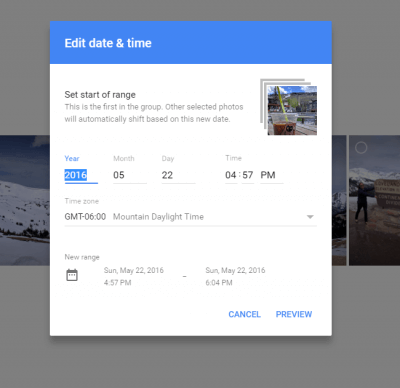 Bulk Date Change in Google Photos