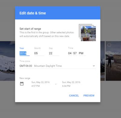 Bulk Date Change in Google Photos