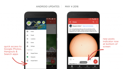 Google+ Update for Android - May 16