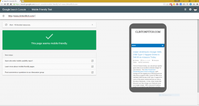 Webmaster Mobility Testing Tool