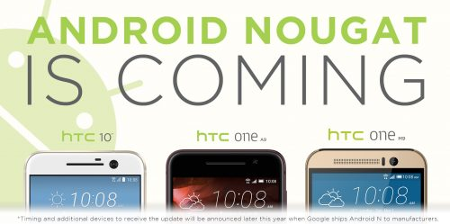 HTC Nougat Updates