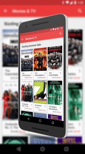 Movie Sale at The Google Play Store