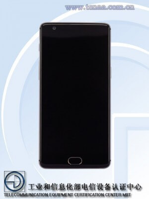 OnePlus 3 Render from TENAA