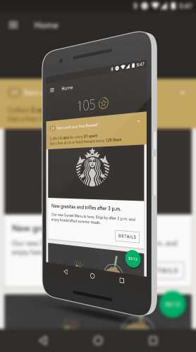 Starbucks App New Rewards Banner