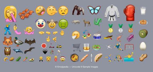 New emoji in Unicode 9.0