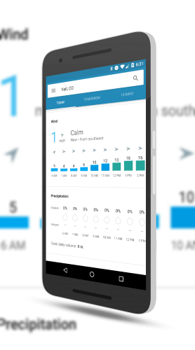 Wind and Rain Hourly Forecast in Google Weather