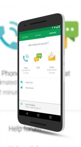 Chat Support in The Project Fi app