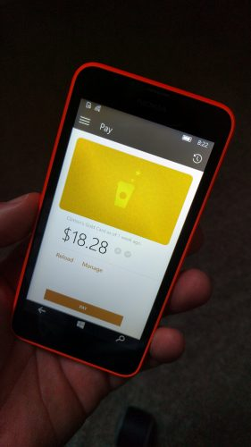 Starbucks app for Windows Phone