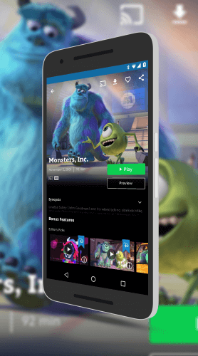 Monsters Inc. In the Disney Movies Anywhere app