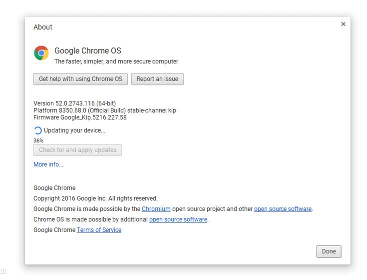 Chrome OS Build 53 Update