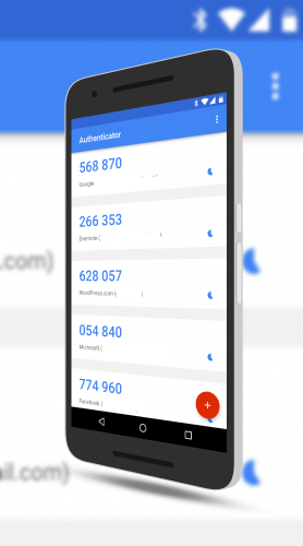 Google Authenticator Material Design Look