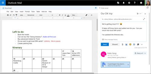 Google Drive Integration with Outlook.com