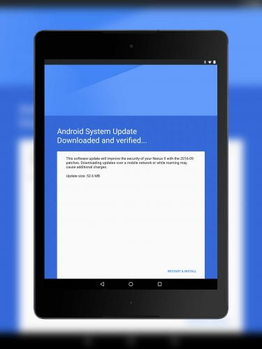September Android Security Update on the Nexus 9