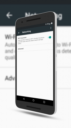 Wi-Fi Assistant on the Nexus 6P