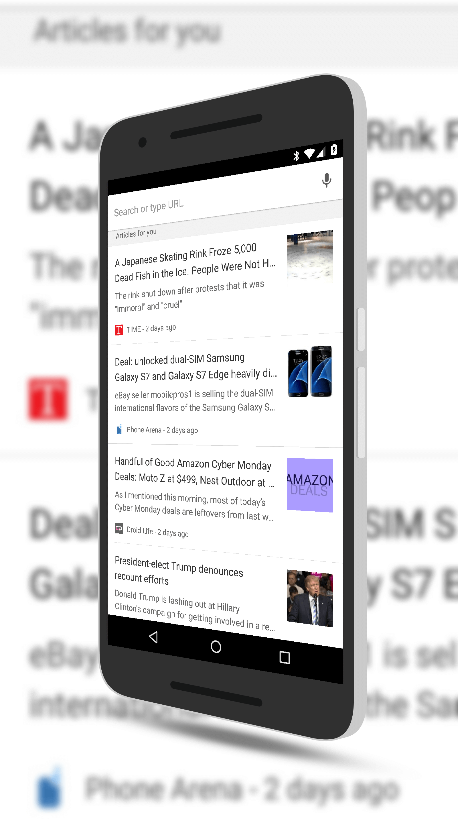 Chrome for Android Personalized Content
