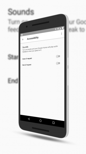 Google Home Accessibility Settings