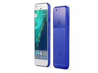 Google Pixel in Really Blue