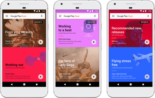 New Google Play Music