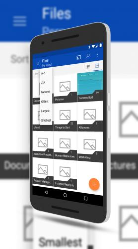 OneDrive Sorting Options