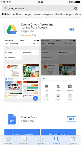 Getting Google Drive for iPhone