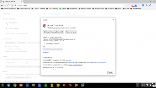 Chrome OS Update January 10 2017