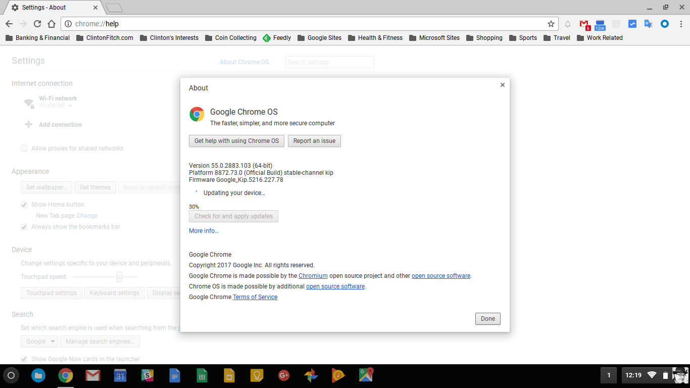 Chrome OS Update January 10 2017