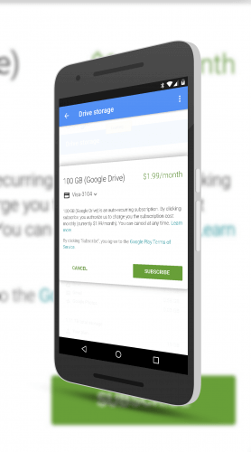 Google Drive Subscriptions