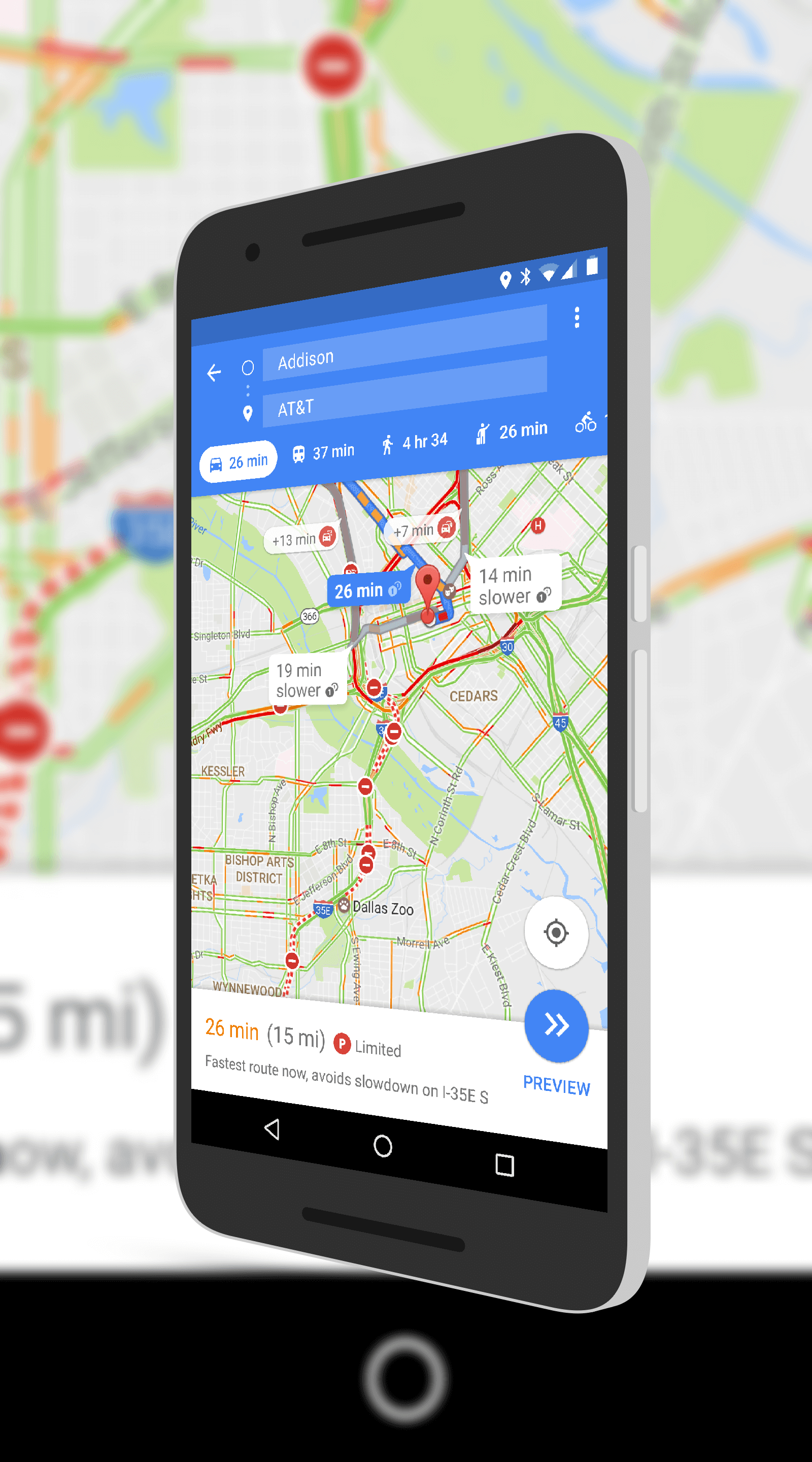 Google Maps Parking Information