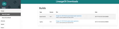 Lineage OS Builds for The Nexus 6P