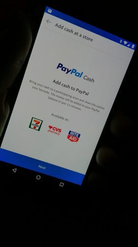 PayPal Reload At 7-Eleven