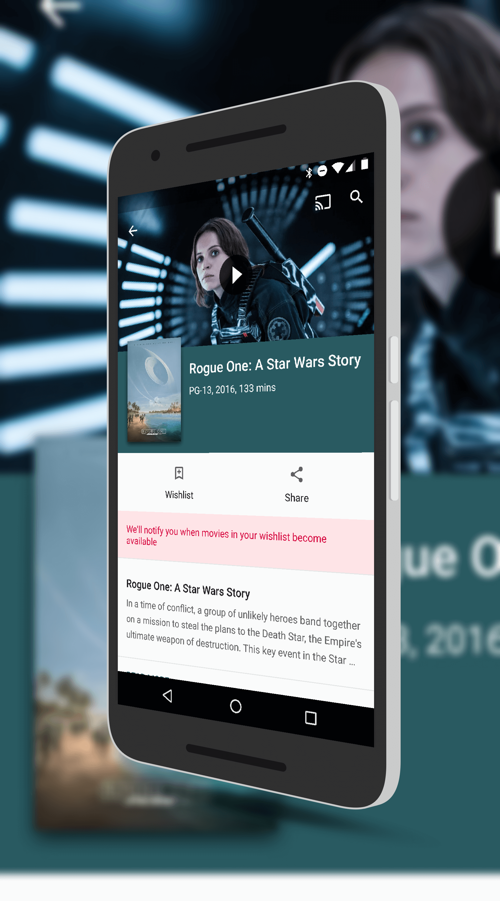 Rouge One in The Google Play Store