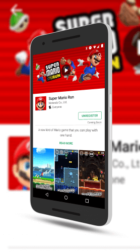 Super Mario Run Registration