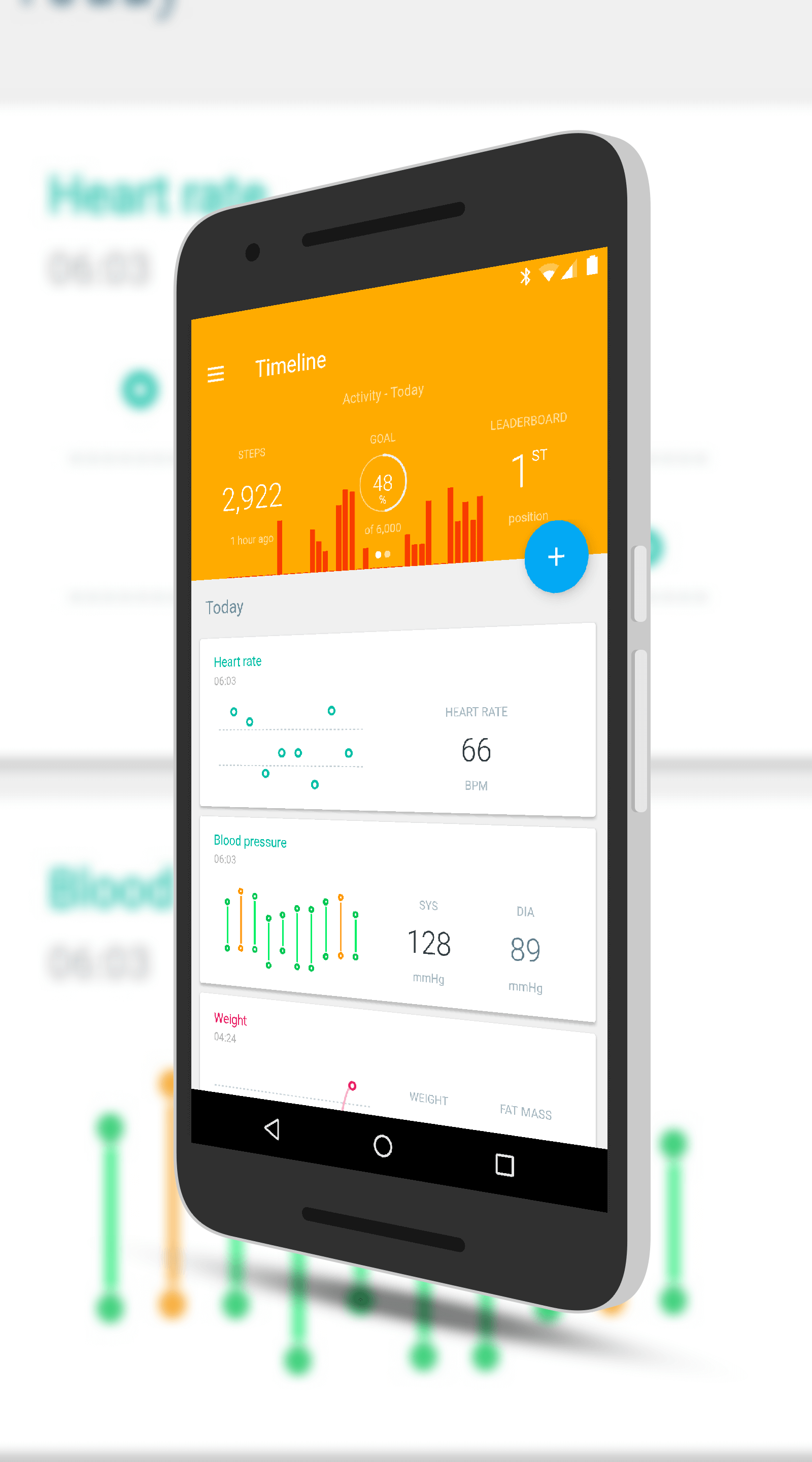 Withings Timeline with Blood Pressure and Pulse