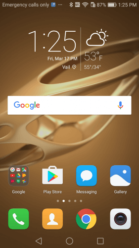 EMUI 4.1 on the Honor 6X