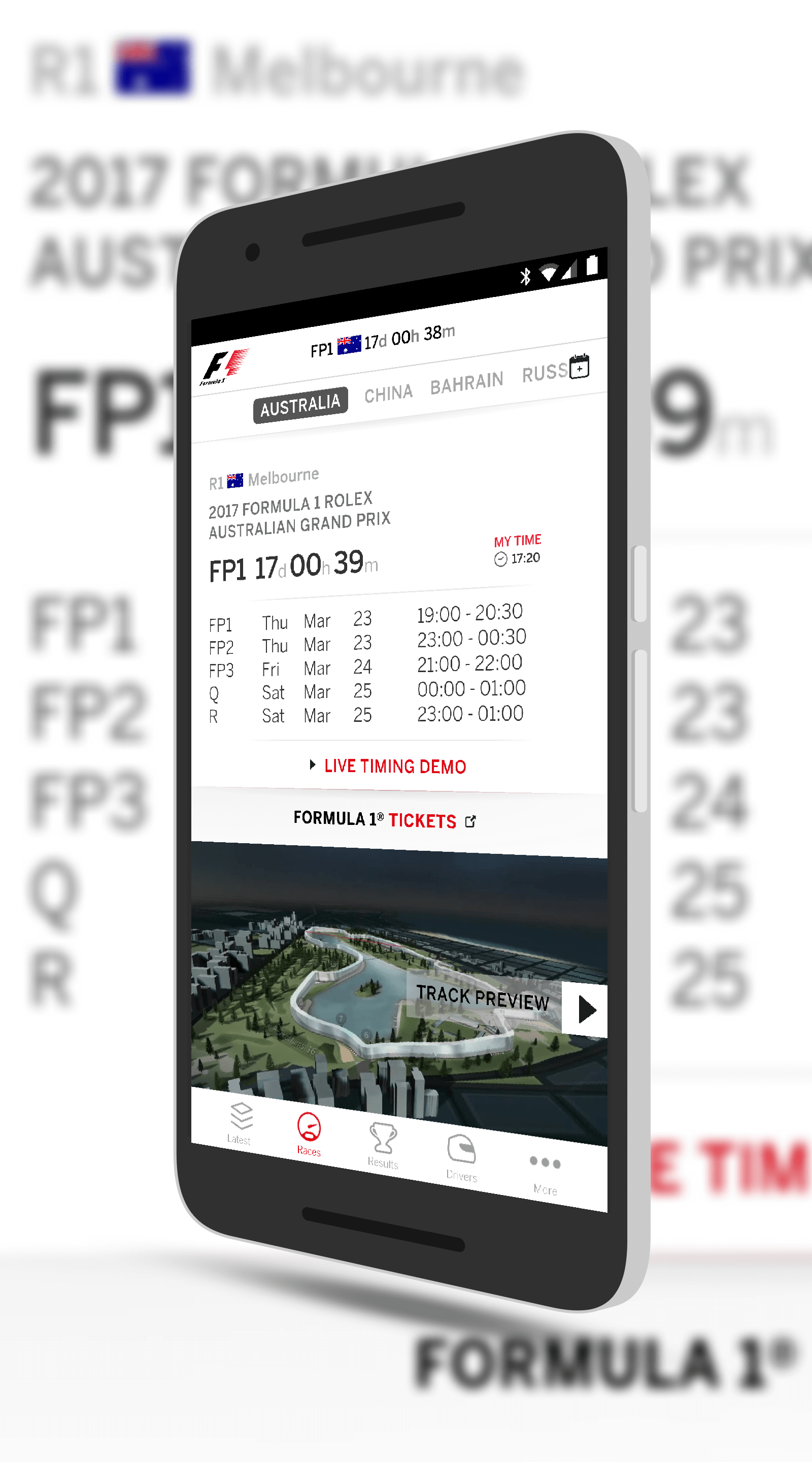 Formula 1 for Android