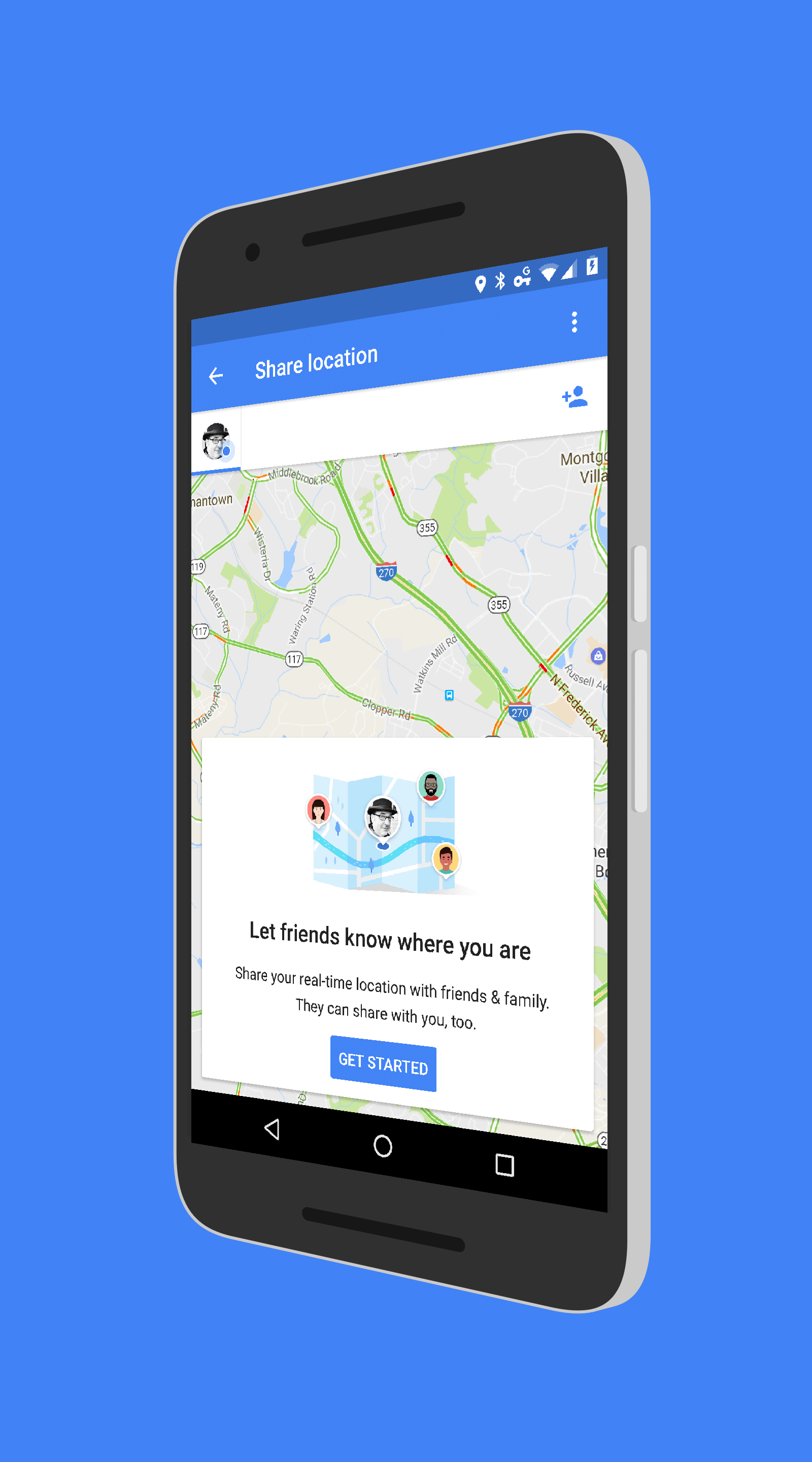 Google Maps Location Sharing