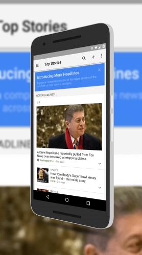 Google News & Weather More Headlines