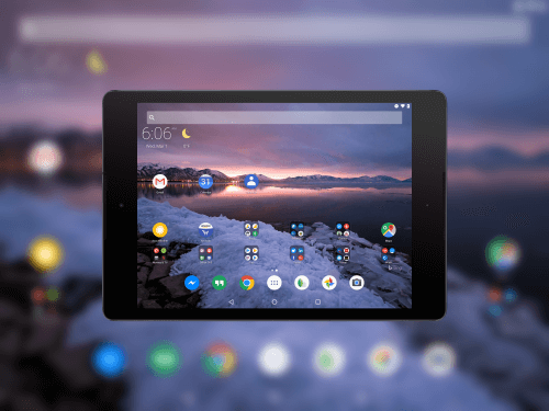 Microsoft Arrow Launcher on a Nexus 9