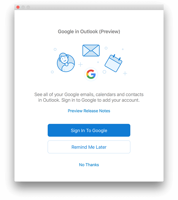 Outlook for Mac Google Suppport