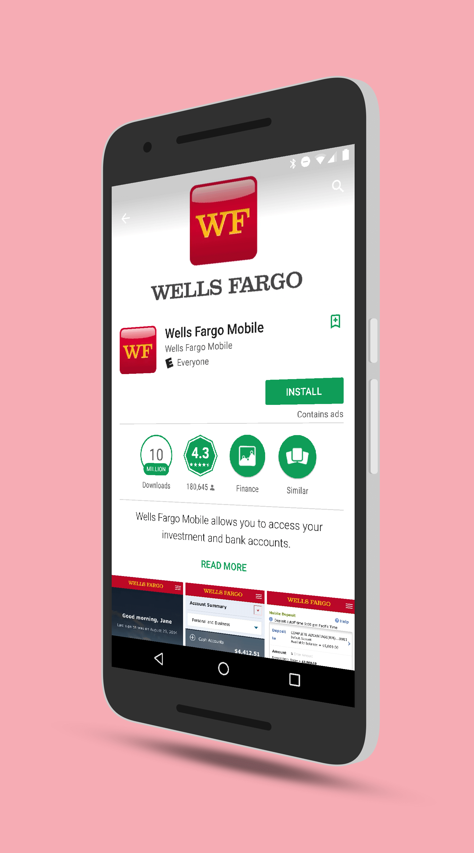 Wells Fargo app for Android