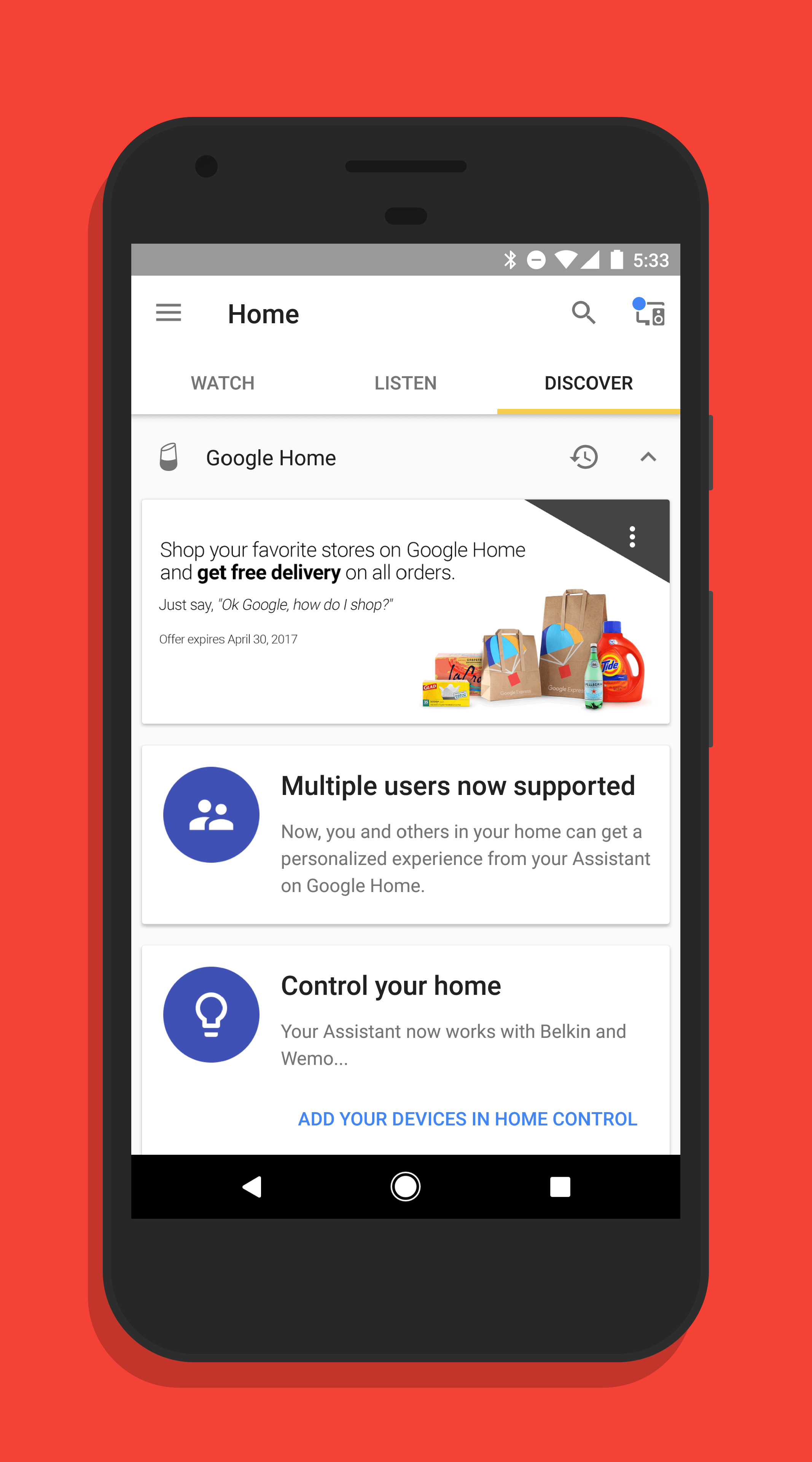 Multiple Account Support in Google Home