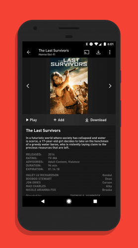 Showtime for Android Supports Offline Viewing