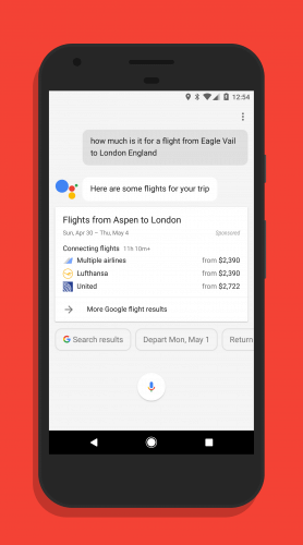 Track Flight Costs in Google Assistant
