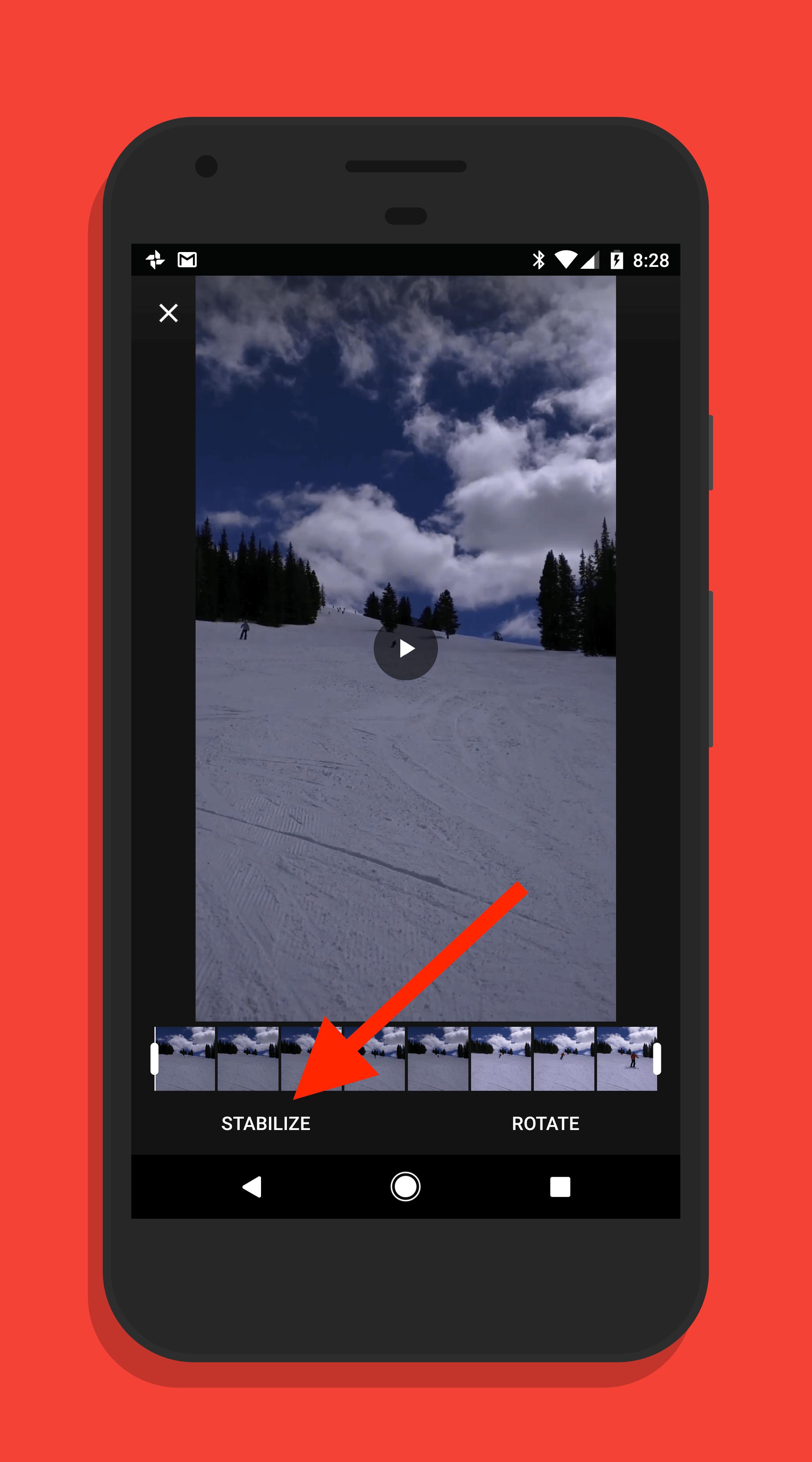 Video Stabilization in Google Photos